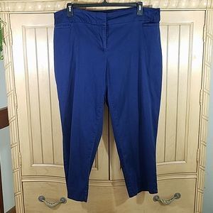 Avenue Blue Crop Pants, sz 18